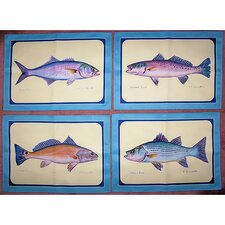 Assorted Fish Place Mat (Set of 4)
