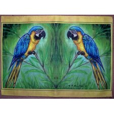 <strong>Betsy Drake Interiors</strong> Blue Macaw Place Mat (Set of 4)