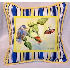 <strong>Betsy Drake Interiors</strong> Garden Baby Bird Indoor / Outdoor Pillow