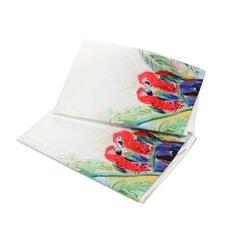 Garden Two Parrots Hand Towel (Set of 2)