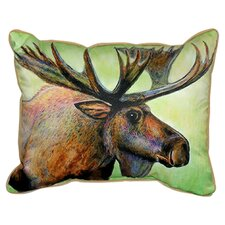 <strong>Betsy Drake Interiors</strong> Lodge Moose Indoor / Outdoor Pillow
