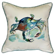 <strong>Betsy Drake Interiors</strong> Coastal Crab Indoor / Outdoor Pillow