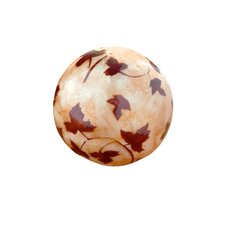 Maple Leaf Capiz Ball (Set of 2)