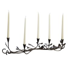 Five-Leaf Centerpiece Metal Wire Candelabra