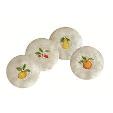 Capiz Citrus Fruits Round Plate (Set of 4)