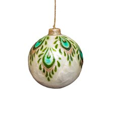 Capiz Peacock Design Ornaments (Set of 2)
