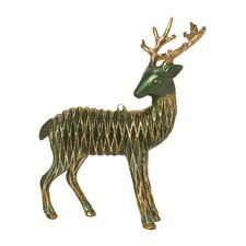 Diamond Mesh Reindeer Ornaments (Set of 2)
