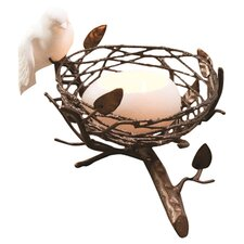 Single Nest with Fine Bone China Bird & Egg Tealight