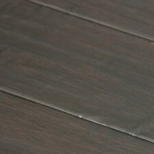 "Hand-scraped 5-1/4"" Solid Stained Carbonized Horizontal Bamboo Flooring in Pinot Noir"