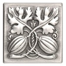 "<strong>Notting Hill</strong> Kitchen Garden Autumn Squash Tile 4"" Square Knob"