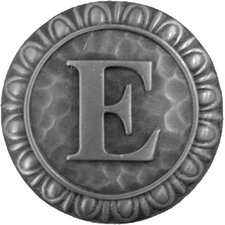 "Jewel Initial Letter E 1.375"" Round Knob"