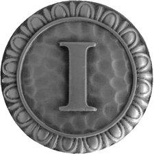 "Jewel Initial Letter I 1.375"" Round Knob"