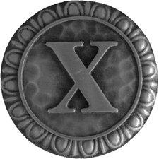 "Jewel Initial Letter X 1.375"" Round Knob"