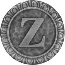 """Jewel Initial Letter Z 1.375"""" Round Knob"""