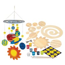 Works of Ahhh Solar System Mobile Wood Paint Kit