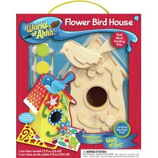 Works of Ahhh Flower Birdhouse Wood Paint Kit