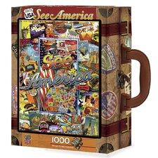Kate Ward Thacker See America 1000 Piece Jigsaw Puzzle