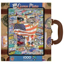 USA License Plates 1000 Piece Jigsaw Puzzle