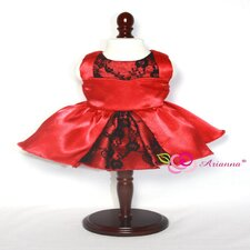 "Holiday Kisses Party Dress for 18"" American Girl Doll"