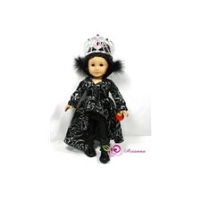 "Ravena Evil Queen 4 Piece Doll Outfit Set for 18"" American Girl Doll"