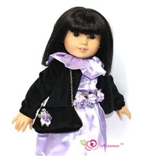 "Mystic Dress, Caplet and Handbag Doll Outfit for 18"" American Girl Doll"