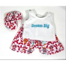 "Dream Big 3 Piece Pajamas for 18"" American Girl Doll"