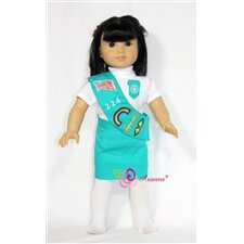 "Girl Scout Uniform for 18"" American Girl Doll"