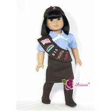 "Brownie Scout Uniform for 18"" American Girl Doll"