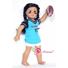 "Touchdown Football Sportswear for 18"" American Girl Doll"