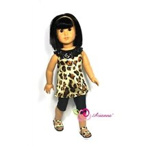 "Lipstick N Leopard Tunic Outfit Fits 18"" American Girl Doll"