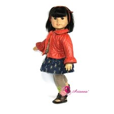 "<strong>Arianna</strong> Tween Delight 4 Piece Set Fits 18"" American Girl Doll"
