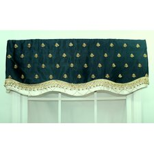 Bumblebee Glory Cotton Blend Rod Pocket Scalloped Curtain Valance