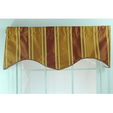 Euro Stripe Shaped Cotton Curtain Valance