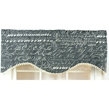 Alphabet Shaped Cotton Blend Curtain Valance