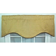<strong>RLF Home</strong> Cotton Rod Pocket Scalloped Curtain Valance