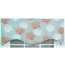 Sea Coral Cotton Curtain Valance
