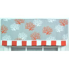 Sea Coral Cotton Window Valance