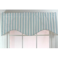 Seersucker Stripe Shaped Cotton Curtain Valance