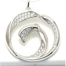 Modern Silver Desgins Circle Cut 32 Cubic Zirconia Pendant