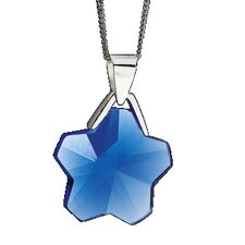 Ice Flower Wheat Chain Crystal Sapphire Pendant