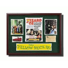 Framed 'Wizard of Oz' Memorabilia Artwork