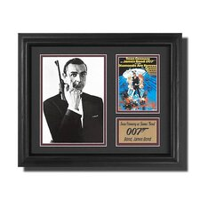 'James Bond' Movie Framed Memorabilia Shadow Box