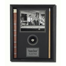 Wood Framed 'The Rat Pack' Memorabilia
