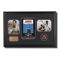 Large Framed 'Jaws' Memorabilia