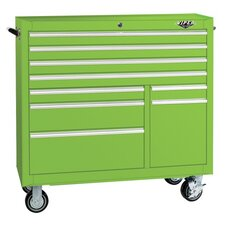 "41"" 9 Drawer Steel Rolling Cabinet"