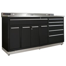"Garage Workstation 72"" Wide 10 Drawer Bottom Cabinet"