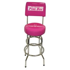 "<strong>The Original Pink Box</strong> 31"" Garage Swivel Bar Stool with Cushion"