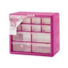 <strong>The Original Pink Box</strong> 12 Compartment Parts Organizer