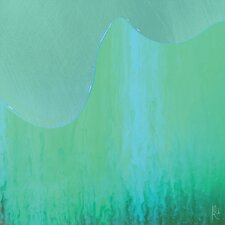 Abstract Mint Drip by Jordan Carlyle Graphic Art