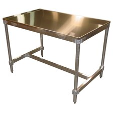 <strong>PVIFS</strong> Aluminum I Frame Work Table with Stainless Steel Top